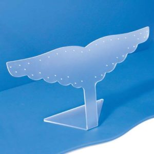 Frosted Acrylic Wing Earring Display