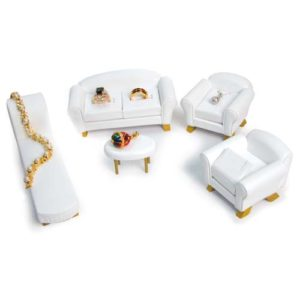 5-PC Black Sofa Jewelry Display Set